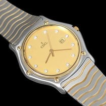 Ebel Classic Wave Unisex Mens Midsize - Stainless Steel, 18K Gold