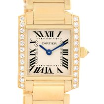 Cartier Tank Francaise Small 18k Yellow Gold Diamond Watch...