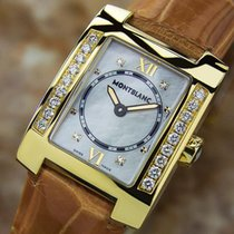 Montblanc Rare Ladies Profile 18k Gold Diamond Mother Of Pearl...