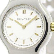 Tiffany Polished Tiffany Tesoro 18k Gold Steel Quartz Ladies...