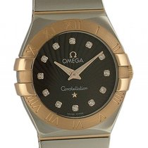 Omega Constellation Stahl/18kt Roségold Quarz Diamond 27mm