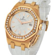Audemars Piguet Ladies Royal Oak in Rose Gold with Diamond Bezel