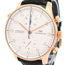 IWC 18K Rose Gold Schaffhausen Chronograph 3712, with Paper
