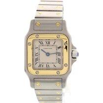Cartier Ladies Cartier Santos 18K Yellow Gold & S/S Watch...