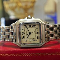 Cartier Panther Panthere Ref: 1310 Stainless Steel Roman...