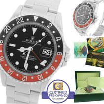 Rolex GMT-Master II ERROR STICK Coke Red Black Stainless 16710 T