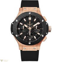 Hublot Big Bang 44mm 18K Rose Gold Ceramic Rubber Men`s Watch