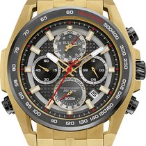 Bulova Precisionist Gold Stainless Steel Chronograph 98b271