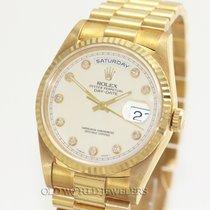 Rolex President Day Date 18238 18K Gold Diamond Dial