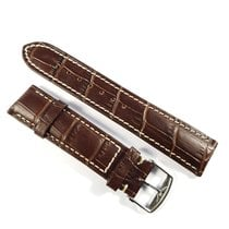 Longines 19mm dark brown alligator leather strap with pin...