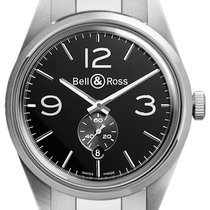 Bell & Ross BR 123 Vintage BRV 123 Officer Black Bracelet