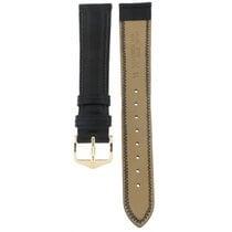 IWC Hirsch Ascot Dark Black Leather Strap 18mm