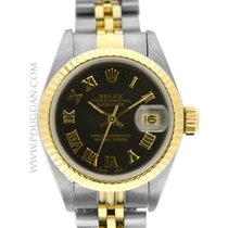 Rolex Ladies stainless steel and 18k yellow gold Datejust
