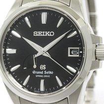 Seiko Polished Grand Seiko Sbga027 Spring Drive Steel Mens...