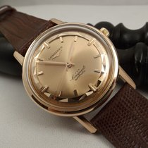 Longines Conquest deluxe pink 18kt  pie pan 290 Singer