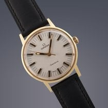 Omega Geneve 'Rail Dial' gold plated manual watch Rare...