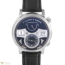 A. Lange & Söhne 18k White Gold Leather Manual Men's...