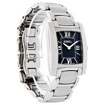 Ebel Brasilia Ladies Mini Black SS Swiss Quartz Watch 9976M22/...