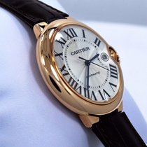 Cartier Ballon Bleu Jumbo 42mm W6900651 18k Rose Gold Leather...