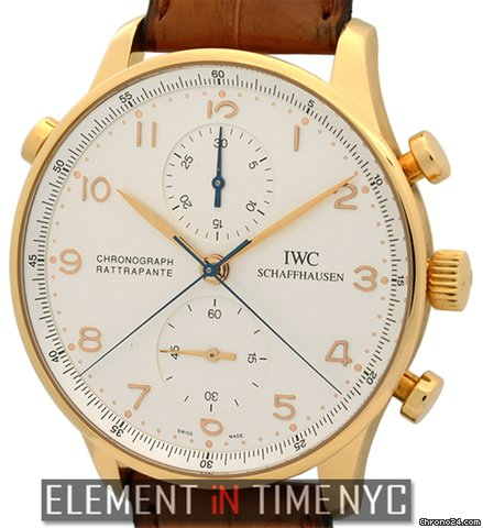 IWC Portuguese Chrono Rattrapante Rose Gold IW3712-04 B+P