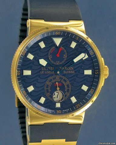 Ulysse Nardin Marine Blue Wave Limited Edition Rose Gold--ON HOLD-