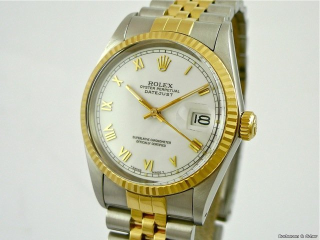 Rolex Datejust, Ref. 16013 in 18k Yellow Gold/Steel