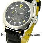 Panerai FER 009 Ferrari GMT - Black Dial - Brushed Steel