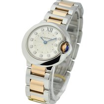 Cartier Ballon Bleu Small Size with Silver Diamond Dial