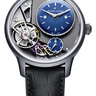 Maurice Lacroix Masterpiece Gravity Satin Steel Case, Blue Dial