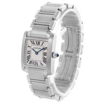 Cartier Tank Francaise Small Stainless Steel Quartz Watch...