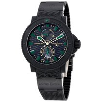 Ulysse Nardin Black Sea Automatic Black Dial Black Rubber...