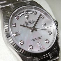 Rolex Day-date President 118239 Mens White Gold Mother Of...