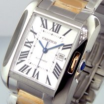 Cartier 47 Mm Steel Pink Gold Tank Anglaise W5310006