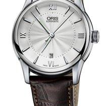 Oris Artelier Date Roman Brown Crocodile Leather Bracelet