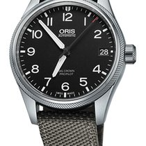 Oris Big Crown ProPilot Date, Black Dial, Grey Bracelet