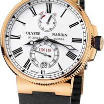 Ulysse Nardin Marine Chronometer Manufacture White Dial Black...