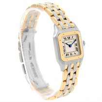 Cartier Panthere Steel 18k Yellow Gold 3 Row Watch W25029b6...