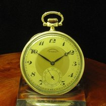 Eterna Open Face Taschenuhr Chronometer 14kt. Gold