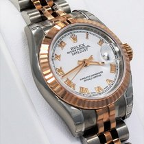 Rolex Datejust 179171 Jubilee 18k Rose Gold & Ss Ladies Watch