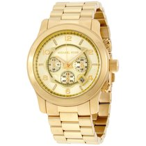 Michael Kors Runway Gold Dial Two Tone Stainless Steel...