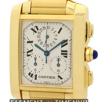 Cartier Tank Collection Tank Francaise Chronograph 18k Yellow...