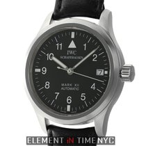 IWC Pilot Collection Mark XII Steel Black Dial 36mm Deployment...