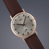 Longines Silver Arrow watch 18ct rose gold manual