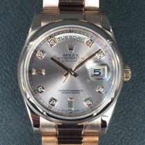 Rolex Day-Date diamonds ref: 118205F rose gold