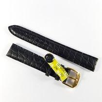 Wempe 15mm black alligator leather strap Kaufmann & buckle