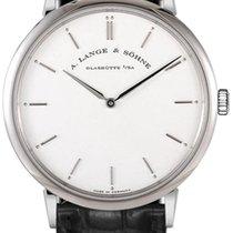 A. Lange & Söhne A  Saxonia Thin Black Leather Men's...