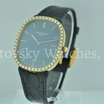 Patek Philippe Ellipse Blue Dial Diamond Bezel 3738