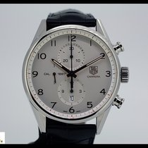 TAG Heuer Carrera Cal. 1887 steel chronograph with leather...