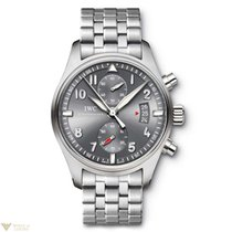 IWC Spitfire Chronograph Stainless Steel Case with Stainless...