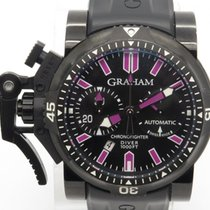 Graham Chrono Fighter Oversize Diver 47mm Watch Pvd W/ Box Papers